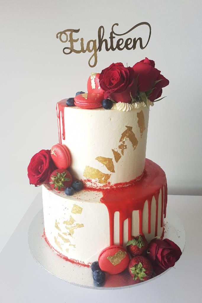 Fabulous Sweet 18 Birthday Cake Bakingjournal Com Au Funny Birthday Cards Online Alyptdamsfinfo